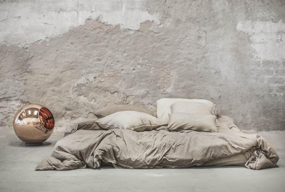 Funda nórdica Figueres de algodón color marrón claro